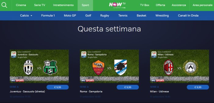 now-tv-ticket-calcio-gratis-prezzo-milan-juventus-inter-napoli-roma